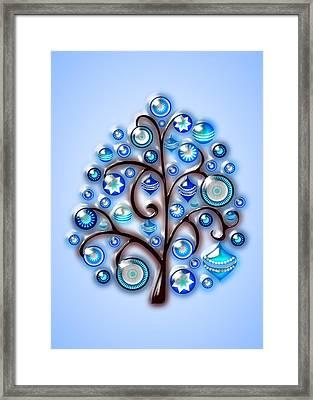 Blue Glass Ornaments Framed Print by Anastasiya Malakhova