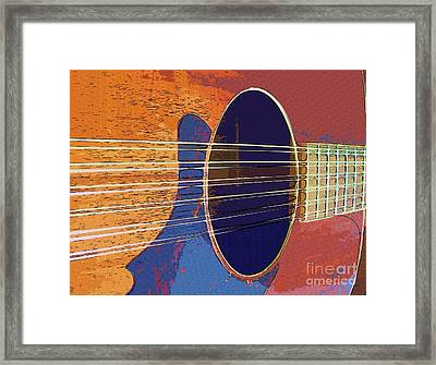 Blue Guitar Framed Print by Barbara Drake