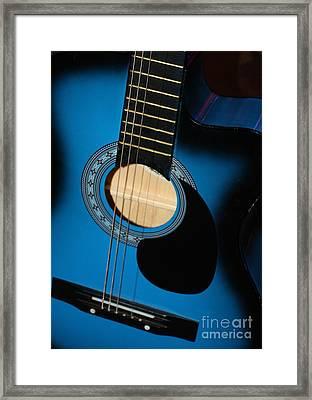 Blue Guitar Framed Print by Carol Groenen