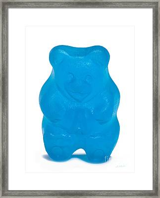 Blue Gummy Bear Framed Print by Iris Richardson