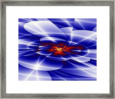 Blue Framed Print by Hai Pham