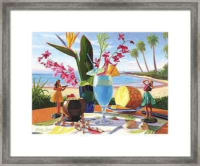 Blue Hawaiian Framed Print by Steve Simon