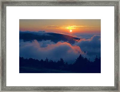 Blue Hill Sunset - Acadia Framed Print by Stephen  Vecchiotti