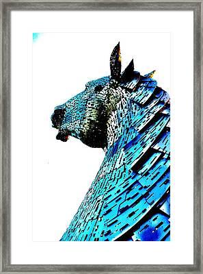 Blue Horse Framed Print by Nik Watt