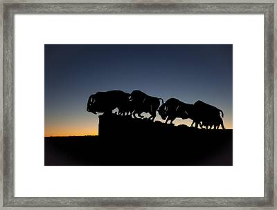 Blue Hour At Caprock Canyons State Park Framed Print by Melany Sarafis