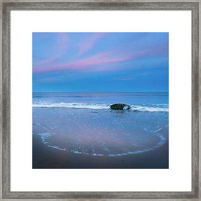 Blue Hour Beach Square Framed Print by Bill Wakeley