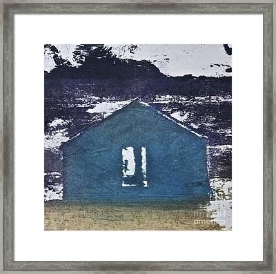Blue House Framed Print by Deborah Talbot - Kostisin