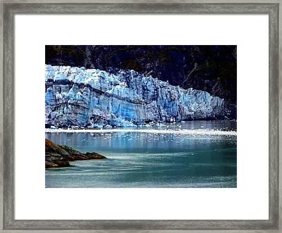 Blue Ice Framed Print by Karen Wiles