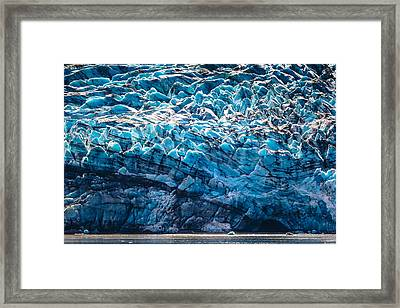 Blue Ice Framed Print by Matt Harvey