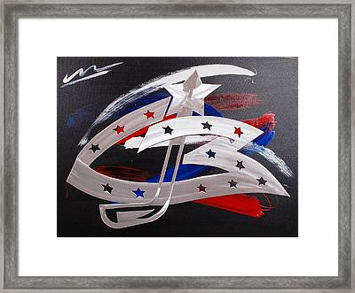 Blue Jackets Framed Print by Mac Worthington