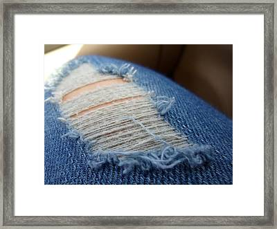 Blue Jeans Framed Print by Jenna Mengersen