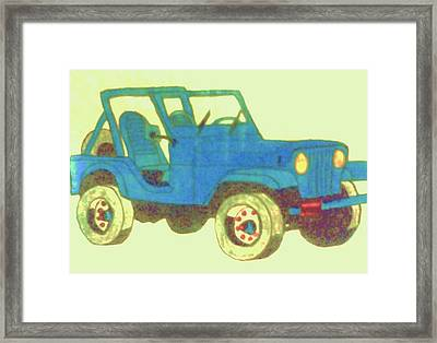 Blue Jeep Framed Print by Christy Saunders Church