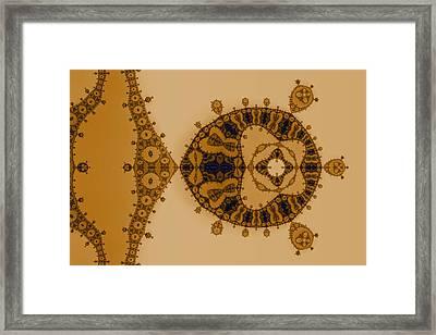 Blue Lace Framed Print by Mark Eggleston