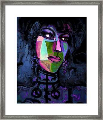 Blue Lady Framed Print by Natalie Holland
