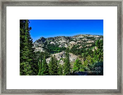 Blue Lake Framed Print by Robert Bales