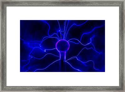 Blue Lightnings Framed Print by Jaroslaw Blaminsky