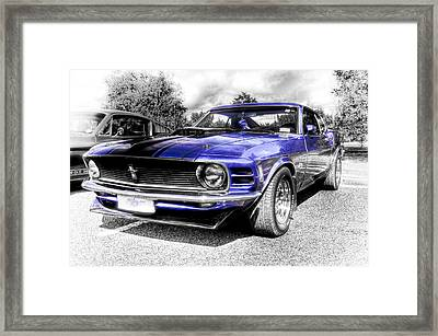 Blue Mach 1 Framed Print by motography aka Phil Clark