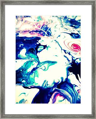 Blue Marble Framed Print by Mlle Marquee
