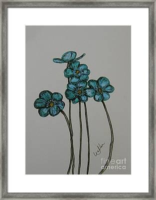 Blue Framed Print by Marcia Weller-Wenbert