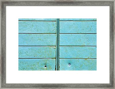 Blue Metal Framed Print by Tom Gowanlock