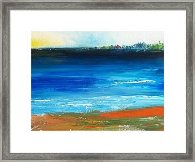 Blue Mist Over Nantucket Island Framed Print by Conor Murphy