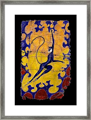 Blue Monkey No. 13 Framed Print by Steve Bogdanoff