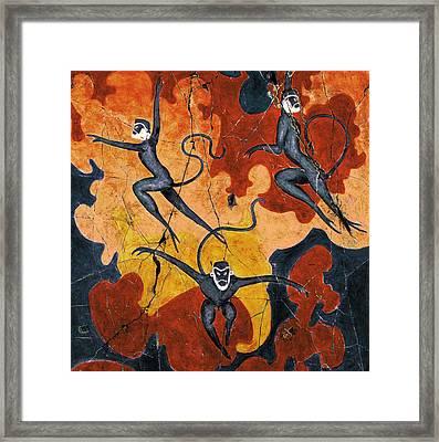 Blue Monkeys No. 8 - Study No. 1 Framed Print by Steve Bogdanoff