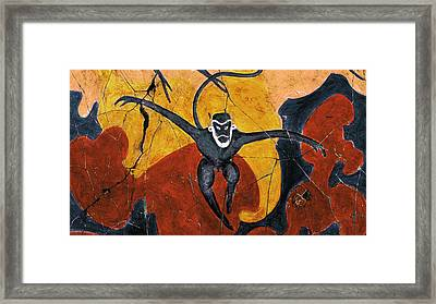Blue Monkeys No. 8 - Study No. 3 Framed Print by Steve Bogdanoff