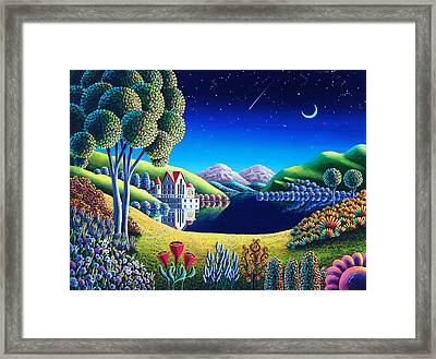 Blue Moon 6 Framed Print by Andy Russell