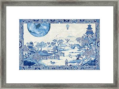 Blue Moon Crazed Framed Print by Colin Thompson