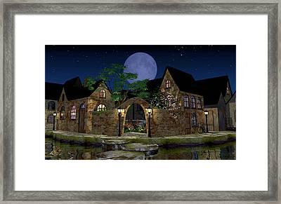 Blue Moon Framed Print by Cynthia Decker