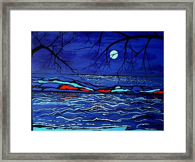 Blue Moon Framed Print by Kathy Peltomaa Lewis