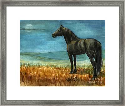 Blue Moon Framed Print by Linda L Martin