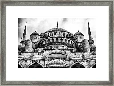 Blue Mosque Framed Print by John Rizzuto