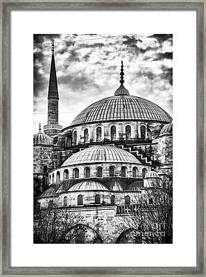 Blue Mosque Majesty Framed Print by John Rizzuto