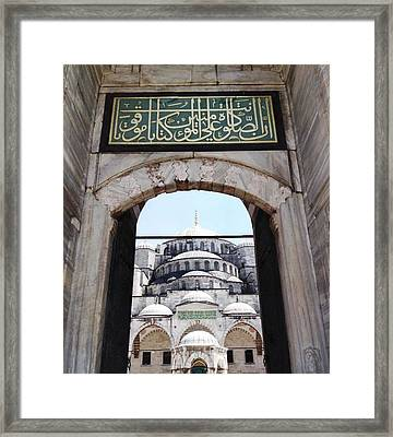 Blue Mosque Framed Print by Michael Fitzpatrick