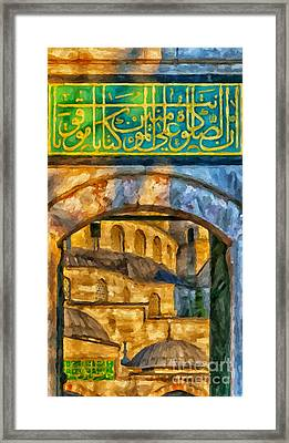 Blue Mosque Painting Framed Print by Antony McAulay