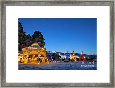 Blue Mountain Night Framed Print by Charline Xia