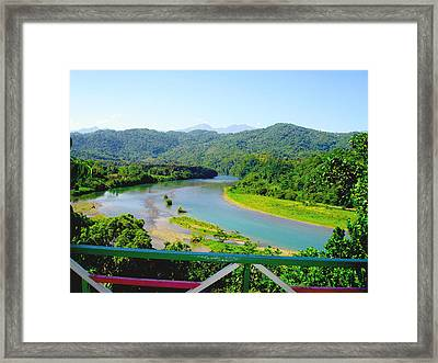 Blue Mountains Framed Print by Carey Chen