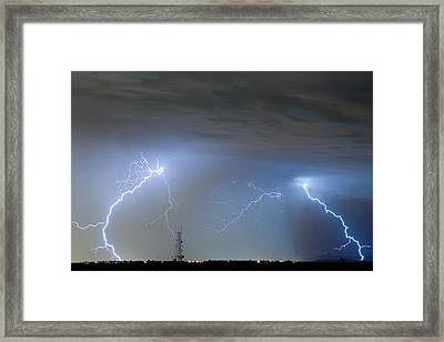 Blue Noise Framed Print by James BO  Insogna