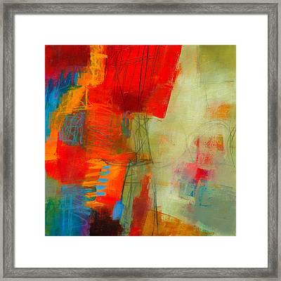 Blue Orange 1 Framed Print by Jane Davies