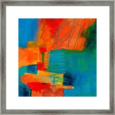 Blue Orange 2 Framed Print by Jane Davies