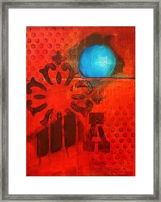 Blue Orb Framed Print by Nancy Merkle