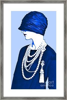 Blue Organza Cloche Framed Print by Maureen Tillman