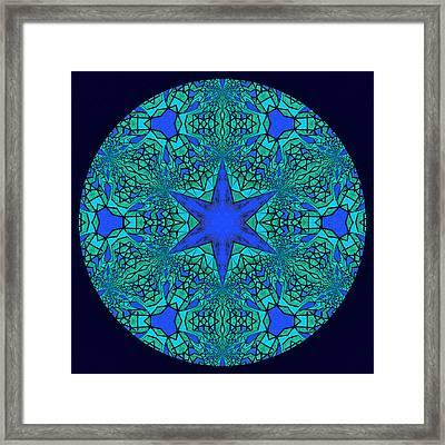 Blue Ornamental Mandala Framed Print by Georgiana Romanovna