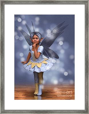 Blue Pixie Framed Print by Elle Arden Walby