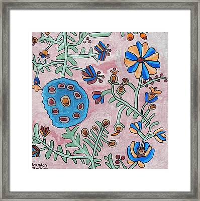 Blue Posie Framed Print by Brandon Drucker