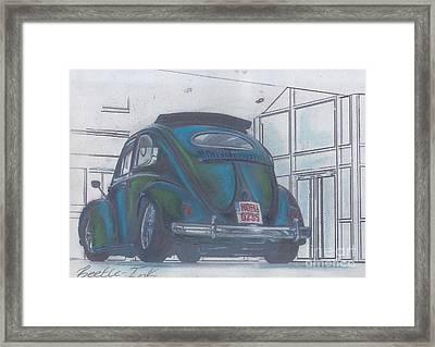 Blue Print Framed Print by Sharon Poulton