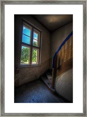Blue Rail Framed Print by Nathan Wright