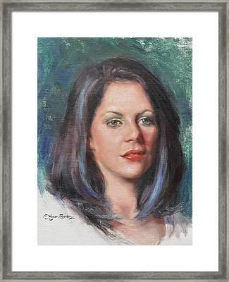Blue Rebecca Framed Print by Anna Rose Bain